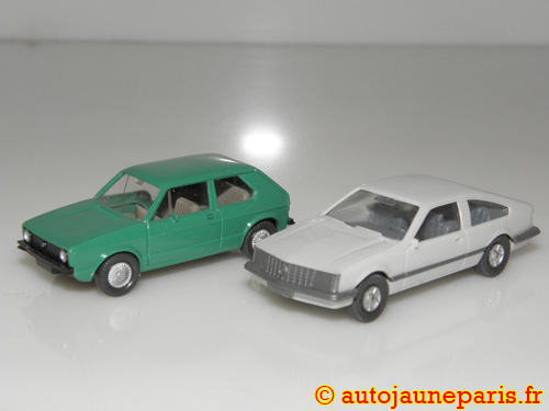 lot deux autos (Volkswagen Golf et Opel Manta)