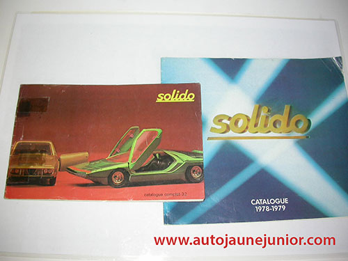 Solido lot de 2 catalogues : complet 32 et 1978/1979