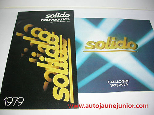 Solido Lot de 2 catalogues : 1979 et 1978/1979
