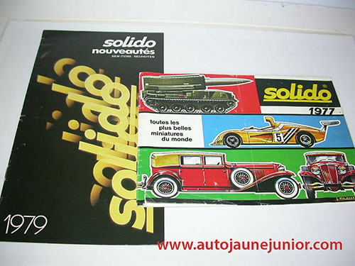 Solido Lot de 2 catlogues : 1977 et 1979