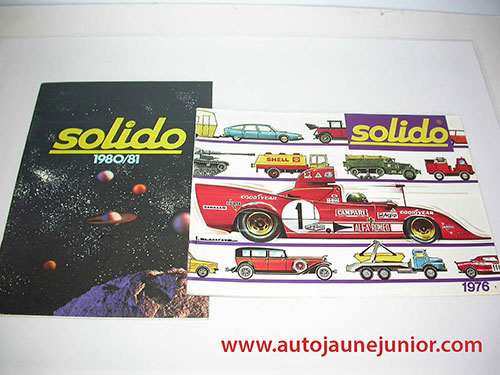 Solido Lot de 2 catalogues : 1976 et 1980/1981
