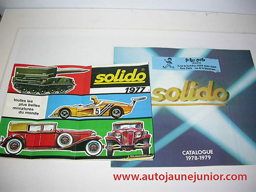 Solido Lot de 2 catalogues : 1977 et 1978/1979