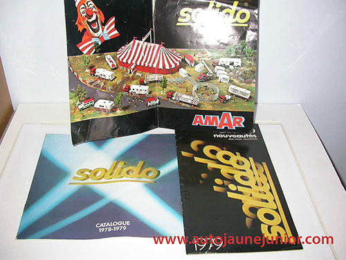 Solido Lot de 3 catalogues : 1978/1979 et 1979 et cirque AMAR