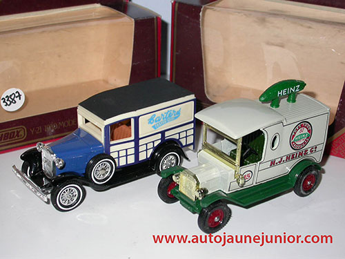 Matchbox Ford T 1912 et Ford A 1930
