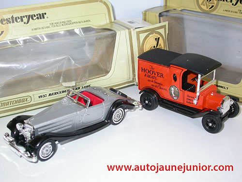 Matchbox Mercedes 540K et Ford T Hoover