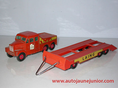 Matchbox tracteur semi remorque porte engin
