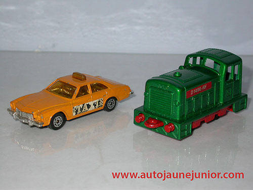 Matchbox Buick et locomotive